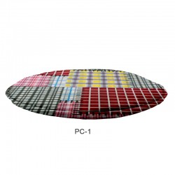 CUSHOIN PAD ROUND WITH TRIM POLYCOTTON