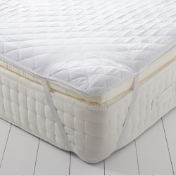 MATTRESS PROTECTOR WITH ELASTICS AT THE 4 CORNERS MICROFIBER