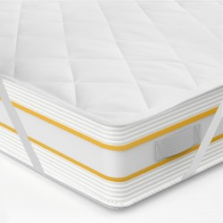 MATTRESS PROTECTOR WITH ELASTICS AT THE 4 CORNERS POLYCOTTON