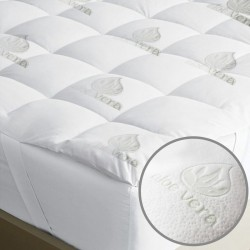 MATTRESS TOPPER ALOE VERA WITH 4 ELASTICS 110X200 M3