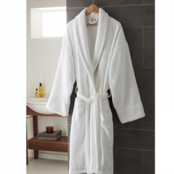 BATHROBE WITH COLLAR