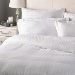 BED SHEET-PILLOW CASE SATEEN STRIPE