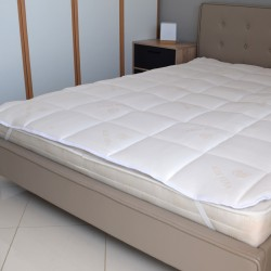 MATTRESS TOPPER ALOE VERA-POLYESTER