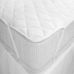 MATTRESS PROTECTOR WITH ELASTICS AT THE 4 CORNERS COTTON