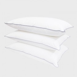 PILLOW COTTON PERCALE DOWNPROOF DOUBLE STITCHING & PIPING 50X70CM